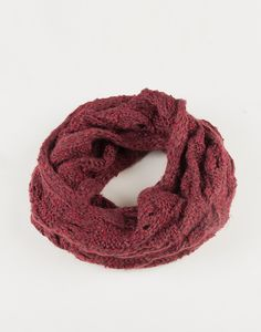 Holey Knit Infinity Scarf - Plum – 2020AVE