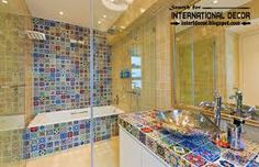 mosaic tiles bathroom - Google Search