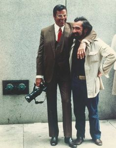 Jerry Lewis and Martin Scorsese on the set of The King of Comedy | Rare and beautiful celebrity photos
