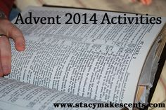 A list of Advent activities for your family.