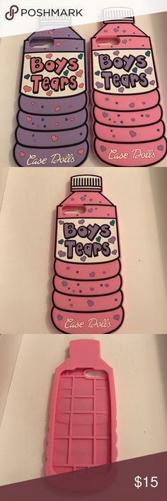 Boys Tears iPhone Case ‍♀️ iPhone 6,6+,7,&7+ Cute Cell Phone Case! Comes in Pink and Purple   Will have Samsung Cases Soon! .                    IG: _d.sharie - Daccessories4u Case Dolls - Daccessories4u Accessories Phone Cases