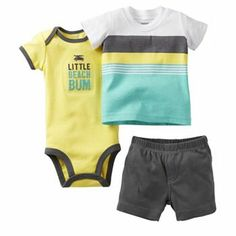 Carter's Little Beach Bum Bodysuit Set - Baby