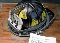 Fire Helmet Cake by vbaking, via Flickr