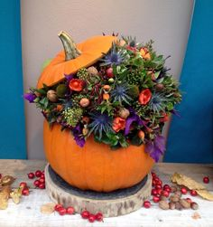 Autumn, Fall, Planter Pots, Creations, Halloween, Awesome, Decor, Google, Flowers