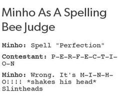 Minho as a spelling bee judge :