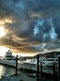 From Yacht Haven Grande in St. Thomas, got to watch a lot of interesting views of the overly wealthy.