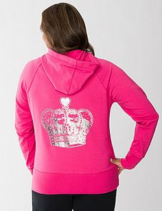 f0f220679f7 Our soft active hoodie goes royal with a crown-embellished back. The  perfect way · Trendy Plus Size ...