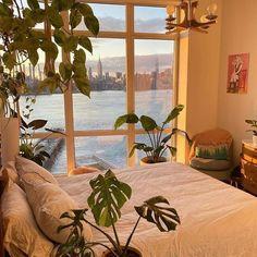 Room Ideas Bedroom, Bedroom Decor, Bedroom Inspo, Room With Plants, Pretty Room, Pretty Art, Aesthetic Room Decor, Dream Home Design, Dream Rooms