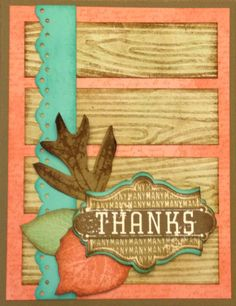 Harvest of Thanks card. Stampin' Up! For class with Nicole Notch Thanks Card, Thanksgiving Cards, Fall Cards, Cardmaking, Harvest, Stampin Up, Card Ideas, Projects To Try, Thankful