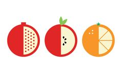 free-vector-stock-fruit-icon-pomegranate-apple-citrus-orange