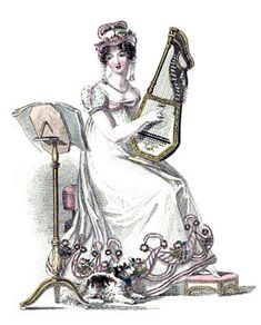 To be considered accomplished in Regency England, a young gentlewoman must be proficient in playing an instrument and singing.