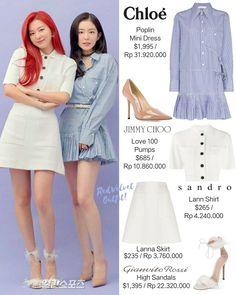 Velvet Outfits, Red Velvet Dress, High Sandals, Chloe Dress, Velvet Fashion, Seulgi, Sandro, Pop Fashion, Poplin