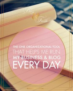 Organization is crucial as a business owner and blogger. I've used many tools in the past to help me stay and get organized, but none are as awesome as the one I'm going to be sharing with you today. I'm pulling back the curtain on the one tools that helps me run my business and blog every day. That one tool is Evernote, and its awesome. If you're not yet using it, you'll find out in this post why you should.