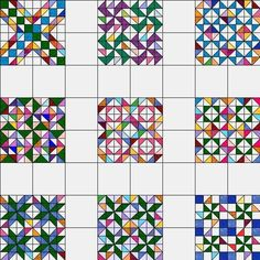 Half Square Triangle Swap by sondra