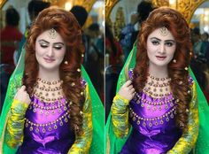 Mehndi Hairstyles S : Pin by zaib on kaashe s brides