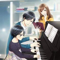 Ichiya Misono - My Last First Kiss Anime Cupples, Anime Dad, Anime Child, Anime Couples Manga, Anime Poses, Anime Life, Cute Anime Couples, Anime Guys, Cute Couple Art