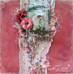 Mary's Crafty Moments: ''Happy'' - DT Layout for Maja Design July & Augus...
