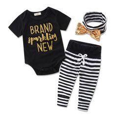 Honest Mamas Mini Newborn Infant Baby Girl Long Sleeve Cotton Bodysuit Tops Tutu Baby Bloomers Shorts Headband 3pcs Girls Clothes Set Clothing Sets