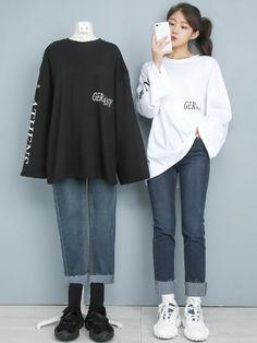 K Fashion Casual, Winter Fashion Outfits, Cute Fashion, Korean Girl Fashion, Korean Street Fashion, Ulzzang Fashion, Moda Outfits, Kpop Outfits, Edgy Outfits