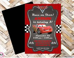 Cars 3 Editable Birthday Invitation, Lightning McQueen, Cars, Mator, Radiator Springs, Cars Birthday, 5x7 design, edit now, print to