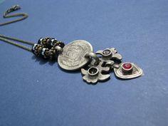 Boho Tribal Kuchi Pendant Necklace