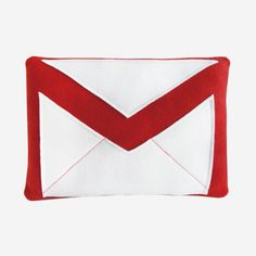 Gmail Pillow | Craftsquatch // haha... Any other Gmail fans out there? I was using Gmail when it was still invite-only! #designinspiration comes from everywhere...