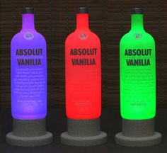 Absolut Vanilla Vodka Color Changing LED Remote Controlled