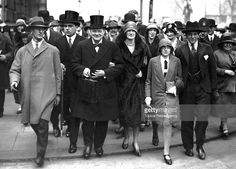 British Chancellor of the Exchequer Winston Churchill - his wife Clementine - their daughter Sarah - and son Randolph - on the way to the House of Commons on Budget Day, April Winston Churchill, Clementine Churchill, Chancellor Of The Exchequer, The Warlord, Soviet Union, Picture Quotes, Gentleman, British, Daughter