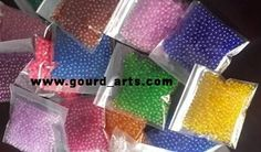the quality of beads you use for your gourd lamps is important.  There are two type of beads in market. Beads made from waste plastic are les expensive but these beads are not transperentand do not let colors to come out the way we wish to see.Try to avoid using beads made from waste plastic.