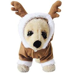 MIXMAX Pet Puppy Dog Christmas Clothes Reindeer Costume Outwear Coat Apparel Hoodie (Reindeer, Small) - http://www.thepuppy.org/mixmax-pet-puppy-dog-christmas-clothes-reindeer-costume-outwear-coat-apparel-hoodie-reindeer-small/