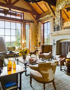 40 Outstanding Western Living Room Decor - The Detailed Interior Living Rooms Western Living Rooms Living Room Interior, Living Room Decor, Western Living Rooms, Western Bedrooms, Living Spaces, Diy Home, Home Decor, Interior Decorating, Interior Design