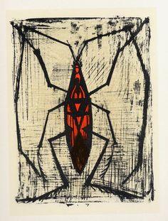 Resultado de imagem para bernard buffet un gros insecte