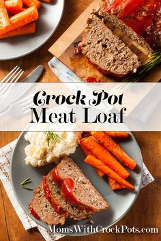 A classic made in the crock pot. Pin this Crock Pot Meat Loaf Recipe