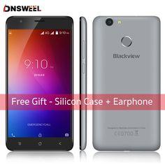 Trường Hợp miễn phí Blackview E7S điện thoại thông minh MT6580 Quad Core Android 6.0 Điện Thoại di động 5.5 inch 2 GB + 16 GB điện thoại di động 8MP Vân Tay ID