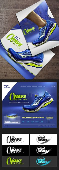 DBROWNIFIED Mizuno Branding Exploration: Print Design, Website Design, Logo Design, Photoshop, Typography