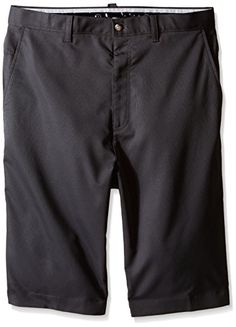 Callaway Mens Big  Tall Golf Performance Flat Front Textured Tech Shorts Asphalt 42 Big -- You can find more details by visiting the image link. Note:It is Affiliate Link to Amazon.