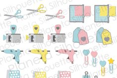 My Planner Stickers Vol 2 - .PNG By Planeta Silhouette