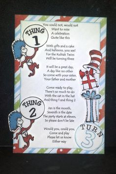 Cat in the Hat invite I created using the #CTMH #Believe Paper Pack