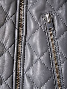 Keroa Leather Quilted Motorcycle Jacket from Outerwear Shop: Transitional Jackets on Gilt
