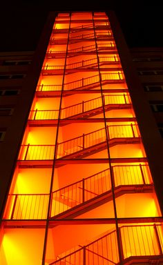 f you haven't yet ventured into the orangeland in your mid-century decor, today we are sharing with you six amazing ways you can use orange in your home. Orange Aesthetic, Aesthetic Colors, Wallpaper Aesthetic, Take The Stairs, Orange Is The New, Stairway To Heaven, Mid Century Decor, Beautiful Buildings, Orange Color