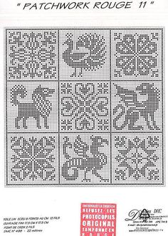 Crochet pattern but would work with cross stitch too! Cross Stitch Samplers, Cross Stitch Charts, Cross Stitch Designs, Cross Stitching, Cross Stitch Embroidery, Embroidery Patterns, Cross Stitch Patterns, Hand Embroidery, Filet Crochet Charts