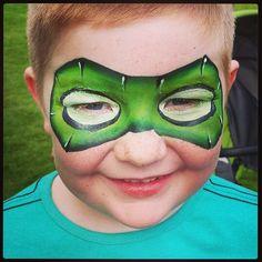 Green lantern mask face paint - photo#6