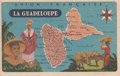 Carte de la Guadeloupe. Pointe A Pitre, French West Indies, France, Diagram, Map, Album, Blog, Images, Heaven