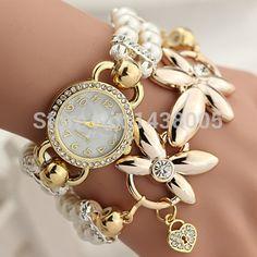 Barato Moda de luxo relógios de quartzo mulheres pulseira mulheres relógio de…