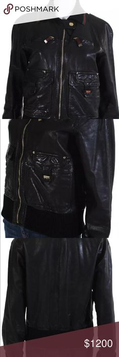 6aa66032928 Authentic Gucci Leather Bomber Jacket! Rare gorgeous Gucci Jacket . I ve  worn it about 3x but I ve had it for a while . Very good condition