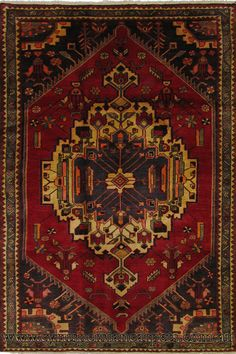 Zanjan Hand Knotted Medallion Wool Rug