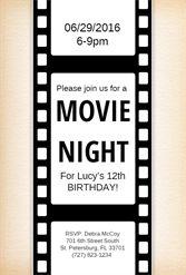 Movie Ticket Invitation Template Free Sample  Party Ideas