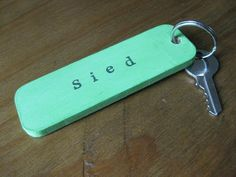Wooden Keyring - Hand Painted and Personalised!