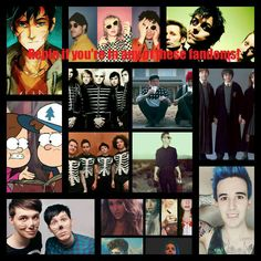 Percy Jackson, Paramore, Green Day, Gravity Falls, My Chemical Romance, Twenty One Pilots, Fall Out Boy, Panic! At The Disco, Harry Potter, Dan and Phil, CrankThatFrank