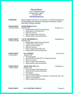 nice writing your qualifications in cnc machinist resume a must - Machinist Resume Template